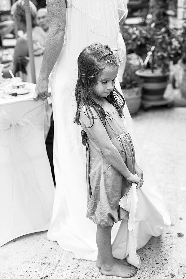 Flower girl wedding photos