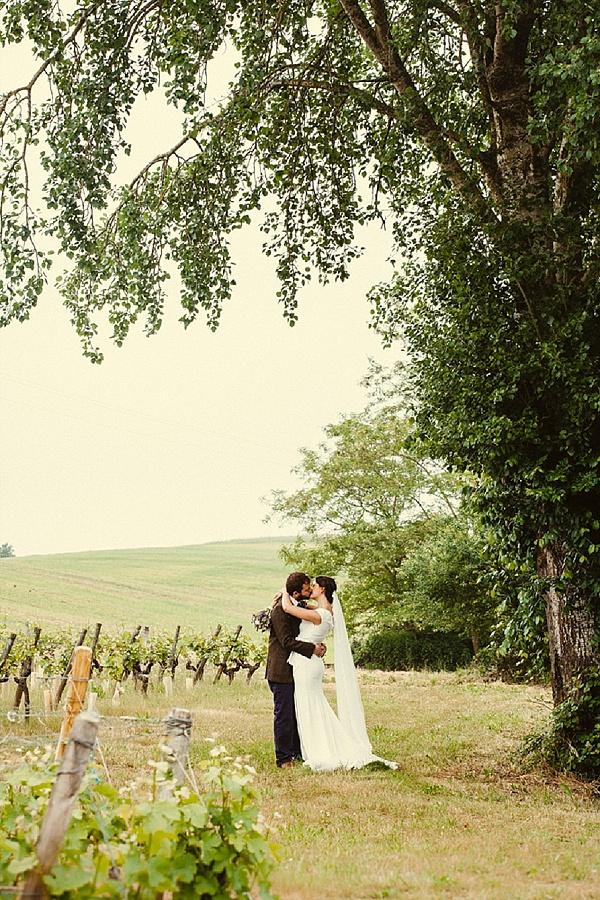 French vinyard wedding