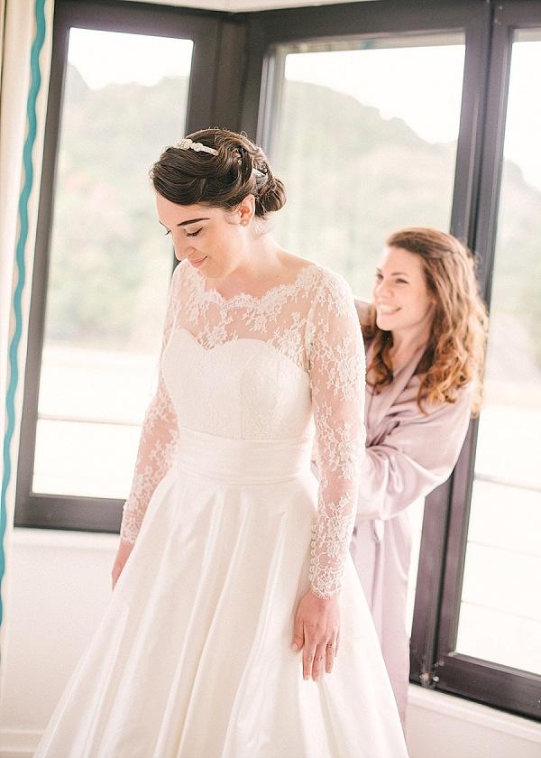 Judy Mott Couturier wedding dress