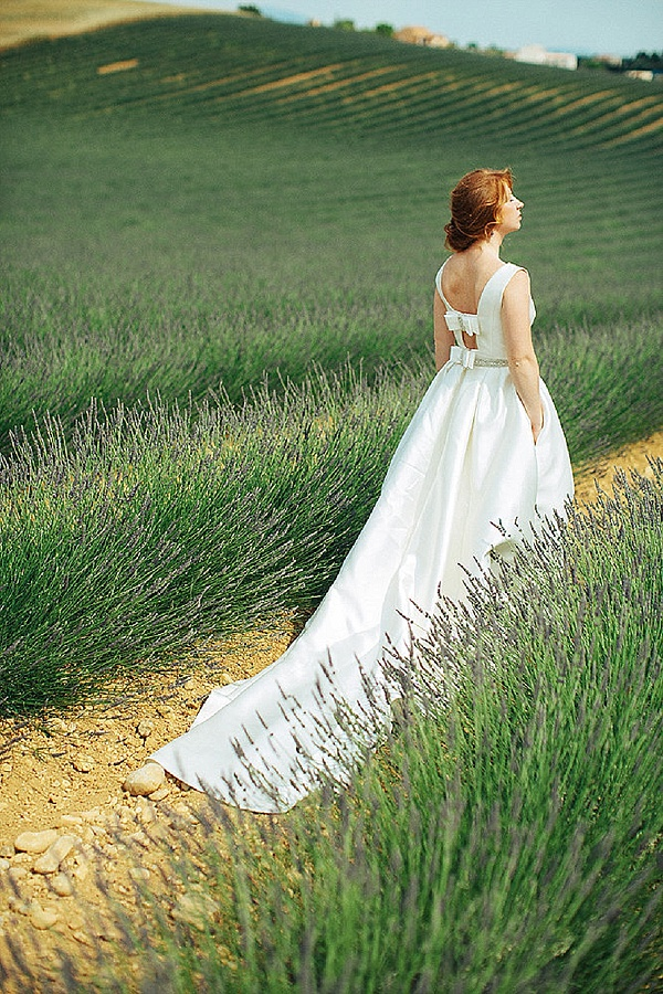 Lavender field bridal portrait