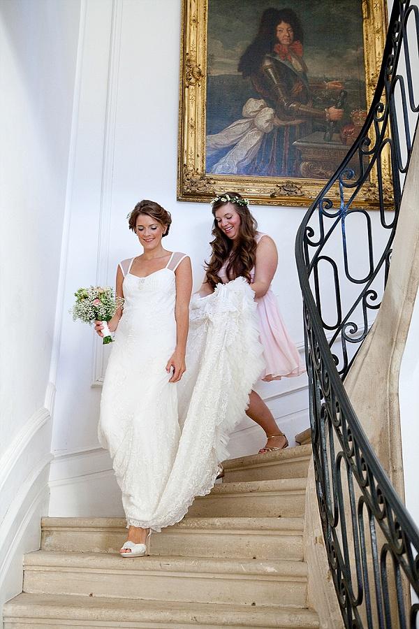 Long train wedding gowns