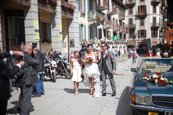 Mercedes convertible wedding car