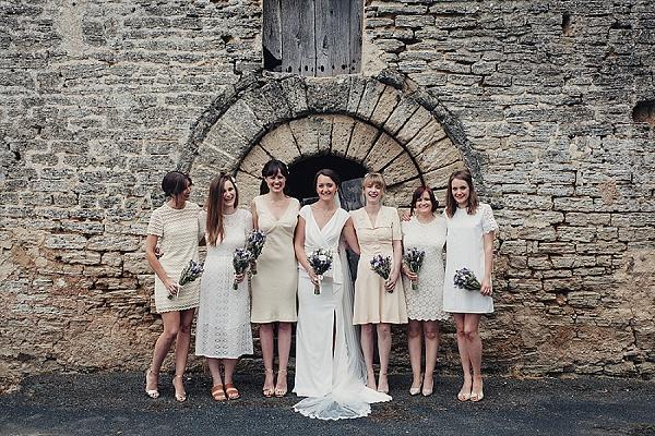 Mixed Zara bridesmaid dresses
