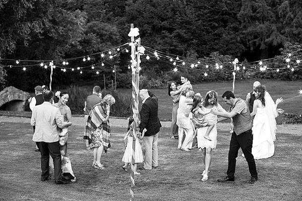 Outside wedding disco