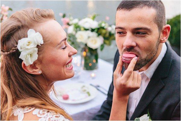 Paris houseboat wedding