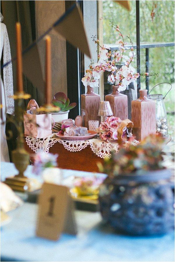 Powder Rose Wedding Decor