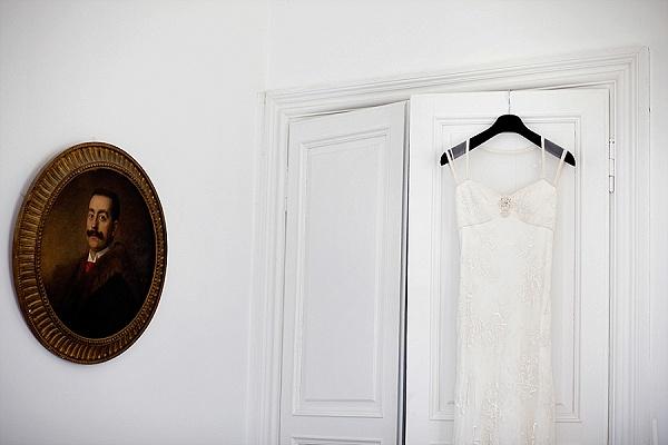 Sheer back wedding gown