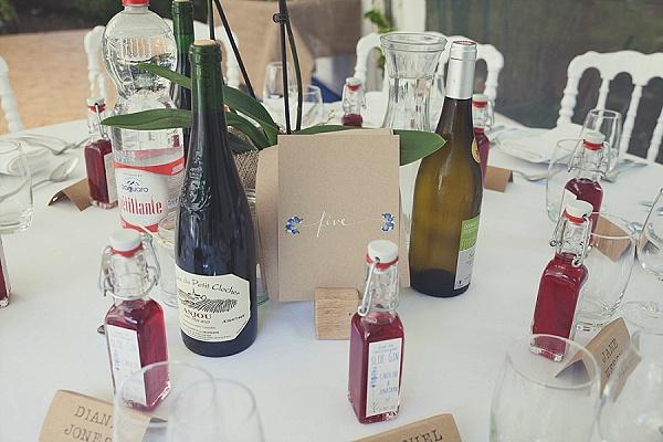 Sloe gin wedding favour ideas