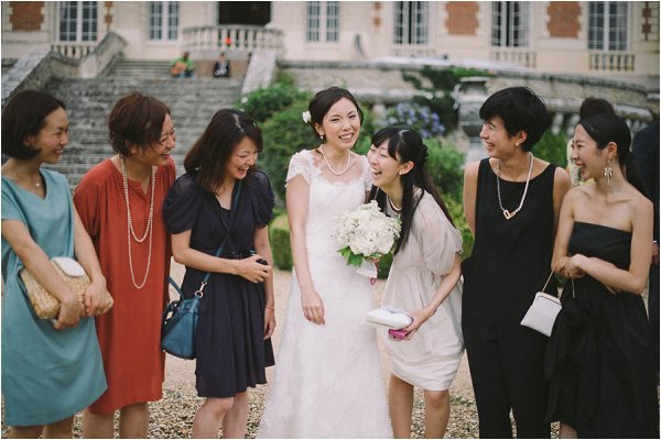 The Bride and her girlfriends following destination French wedding
