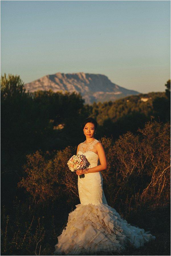 Vera Wang bride in Provence