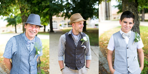 Vintage inspired groomsmen attire