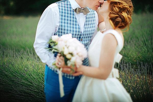 Waistcoat and bow tie groom attire