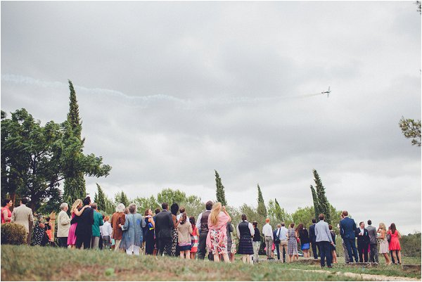 aerobatic wedding display