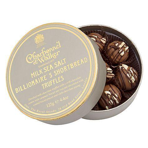 billionaire' shortbread truffle
