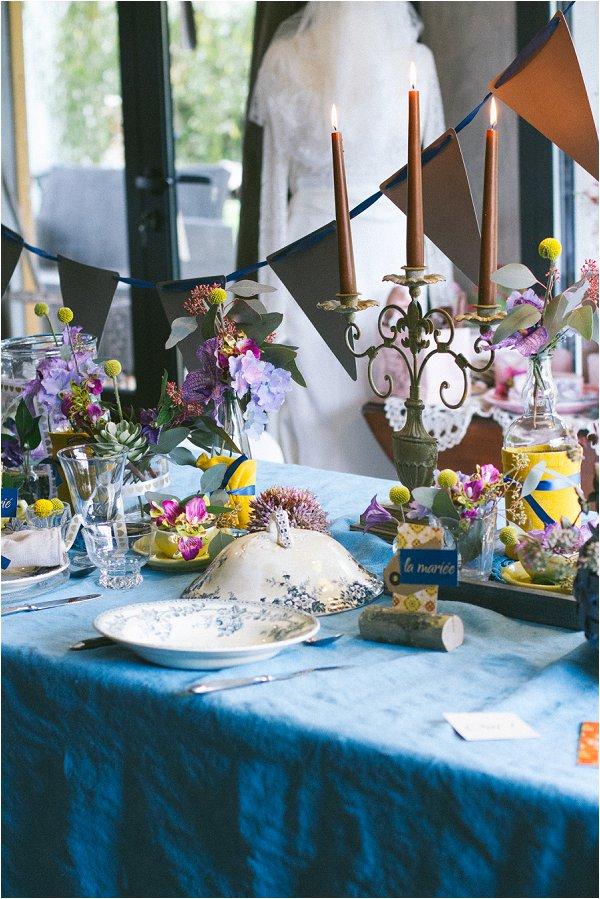 bright blue wedding inspiration