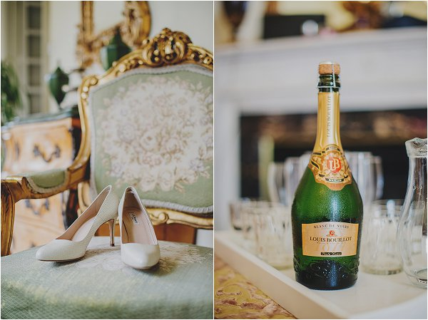 champagne and shoes
