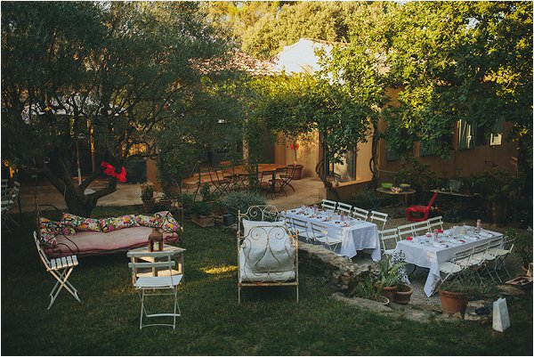 decorating an at-home wedding