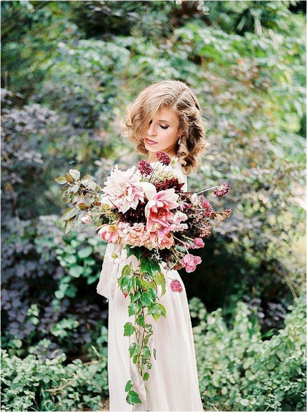 fine art bride with stunning bouquet