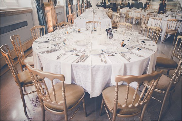 gold wedding decor accents