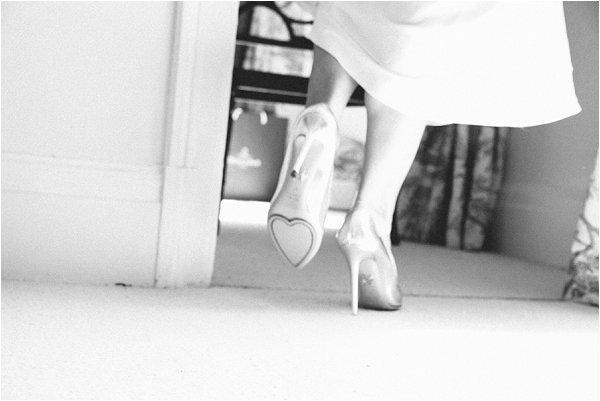 heart wedding shoes