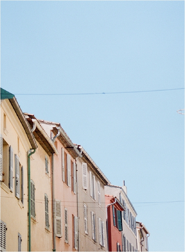 pastel buildings in St Tropez