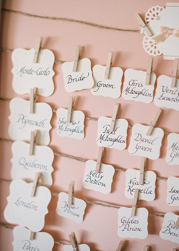 pink and cream table plan