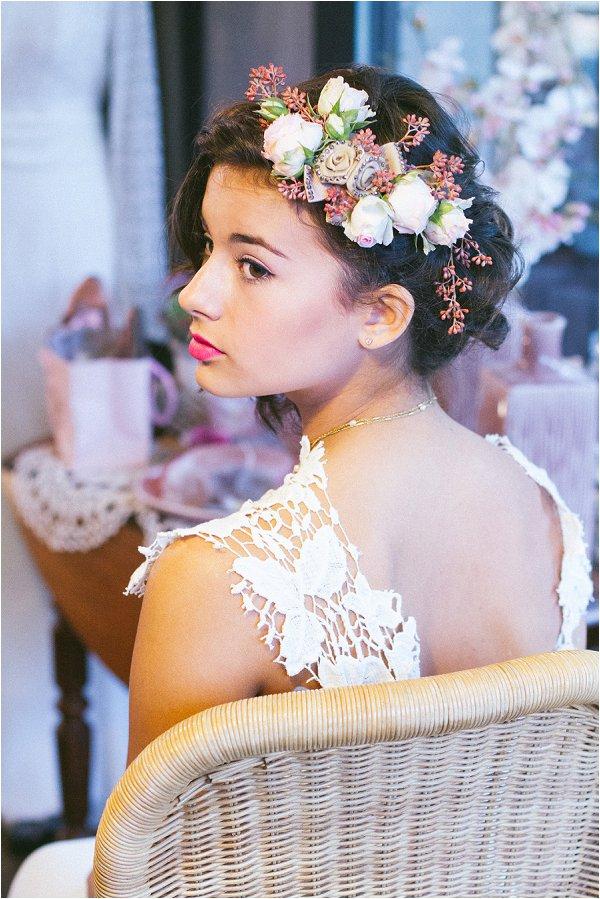 real flower bridal headpiece