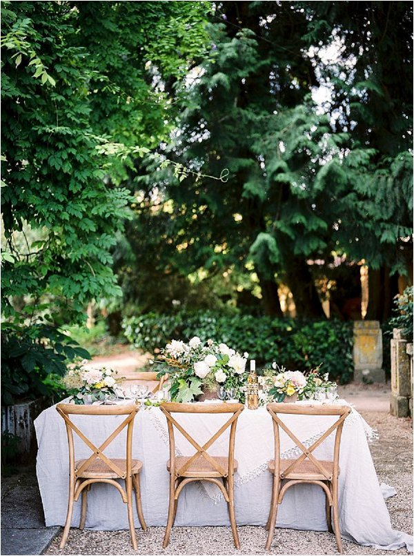 romantic wedding table for 6