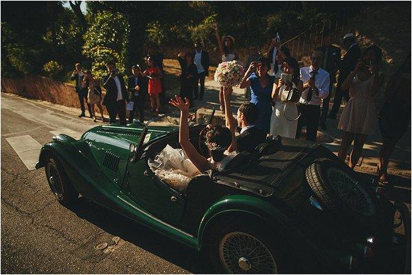vintage wedding car Provence