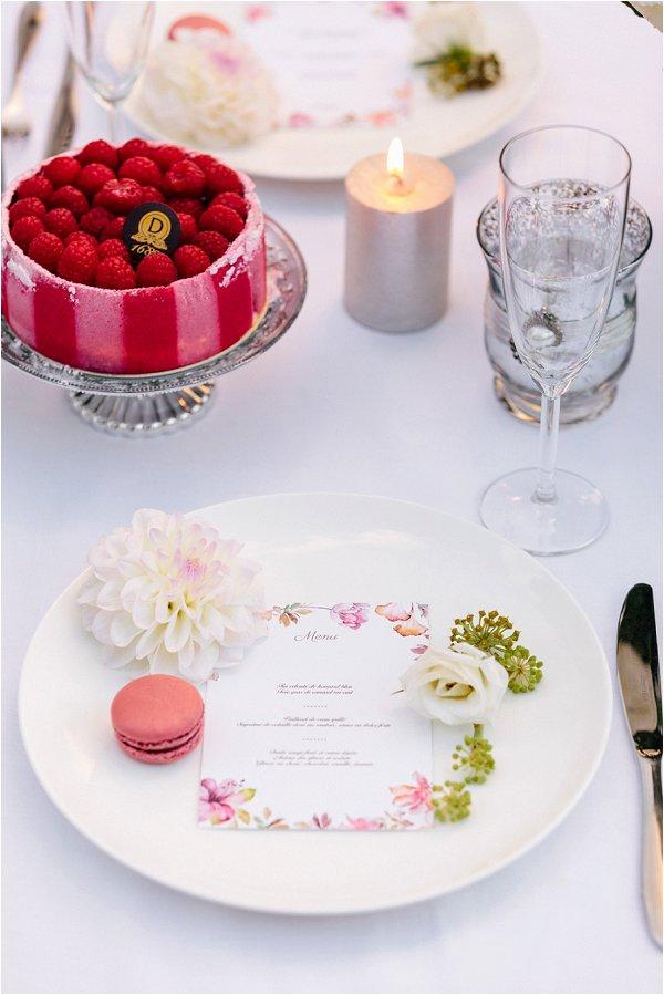 watercolour wedding table