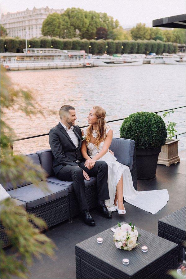 wedding on Houseboat in Paris