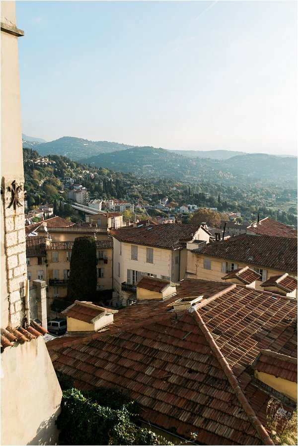 A view of the rooftops of Grasse France