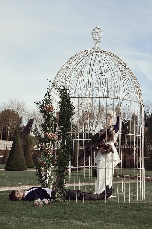 Antique french garden wedding arbor