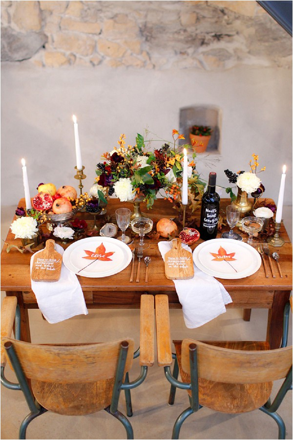 Autumn wedding table ideas | Image by Acacia Piks