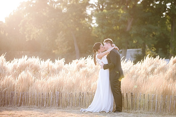 Beautiful sunset wedding portraits