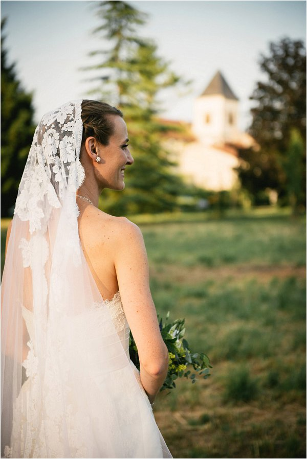 Beautiful vintage lace wedding veil