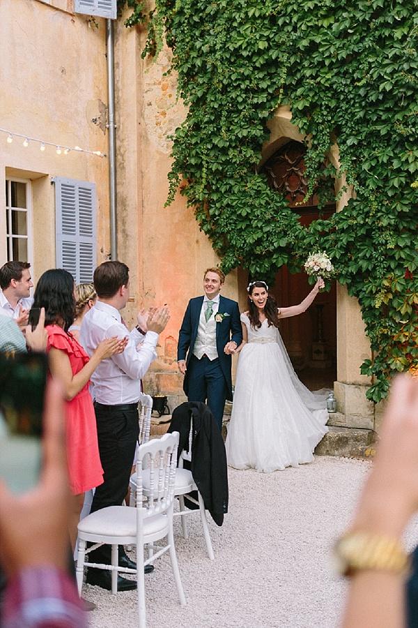 Bride and groom wedding entrance