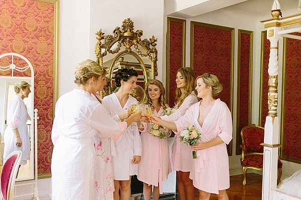Bridesmaid wedding morning robes