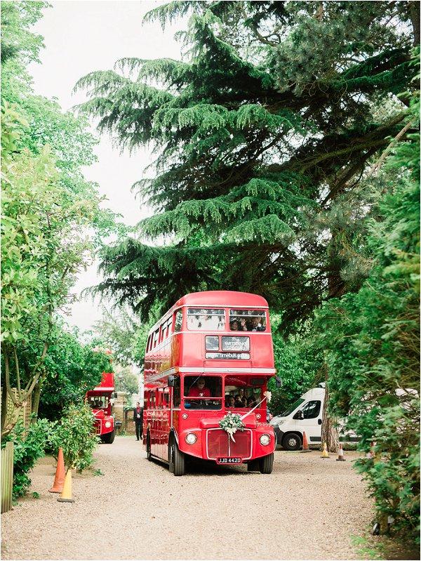 Bright Red London Wedding Bus