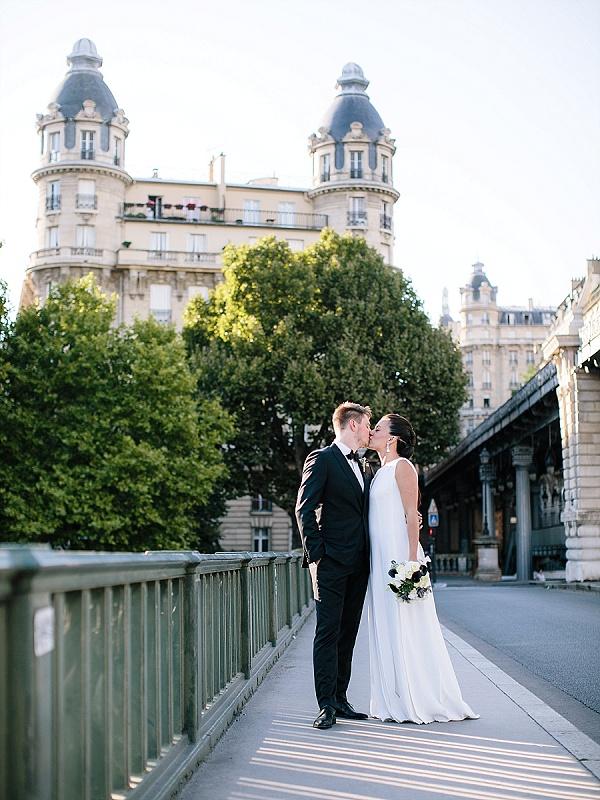Central Paris wedding photos