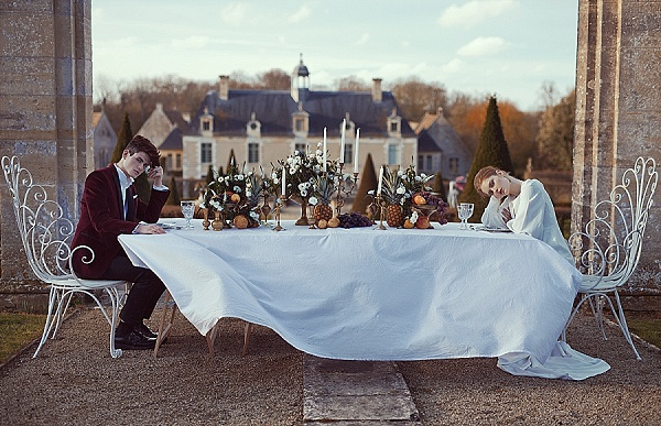 Chateau garden wedding table