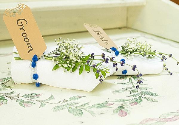 DIY bride and groom place settings