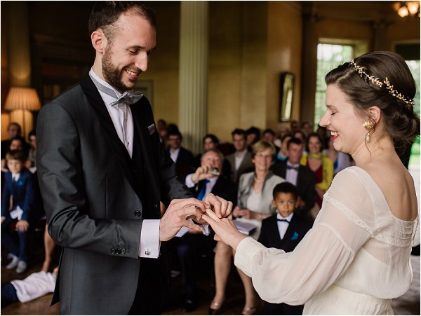 Exchanging the rings in French Style Wedding