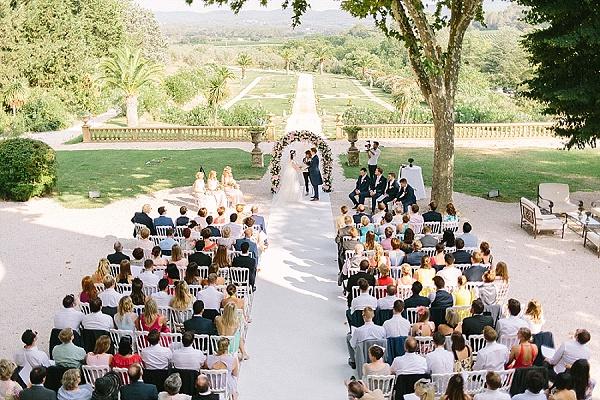 Flower arch wedding ceremony