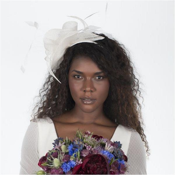 French Bridal hair bow