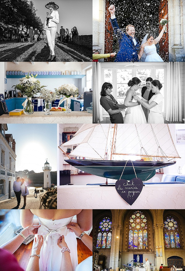 French Island Wedding on Belle Ile en Mer Snapshot