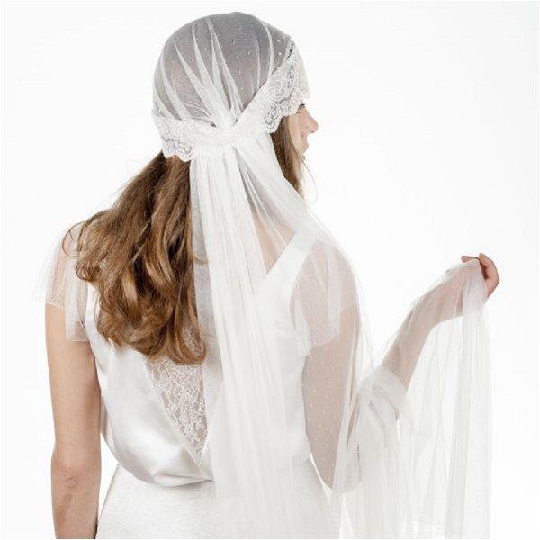 French bridal juliet cap