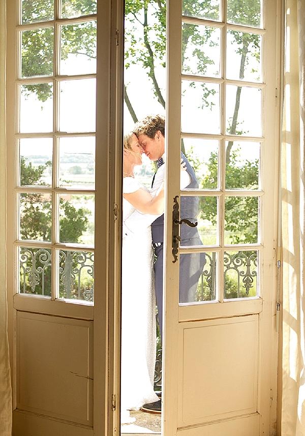 French doors wedding photo