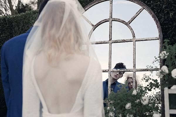 French mirror garden wedding