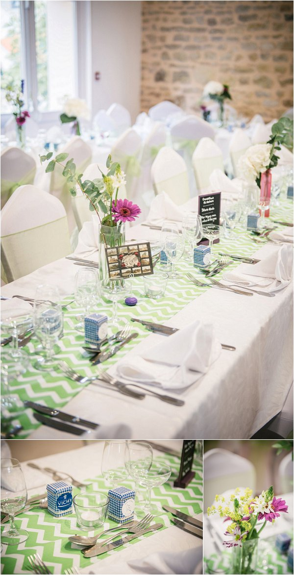 Fresh green wedding table decorations